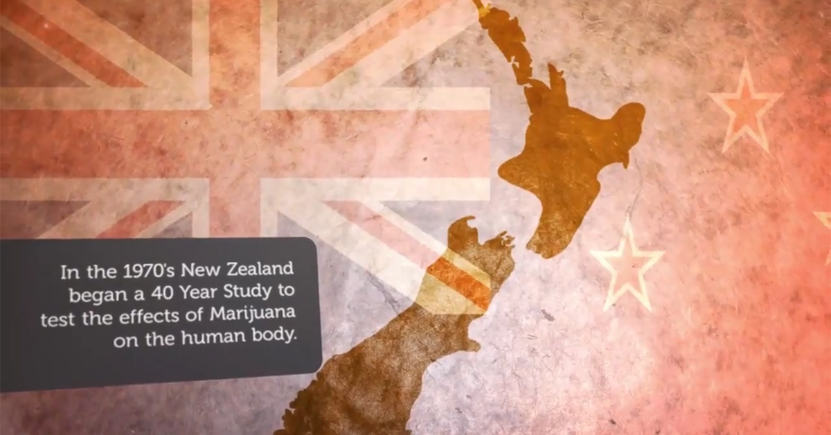Image of NZ flag and map of NZ