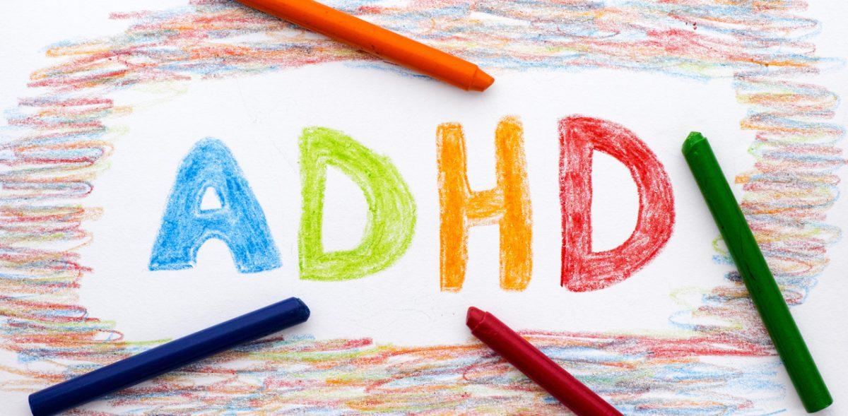 Crayon drawing of ADHD