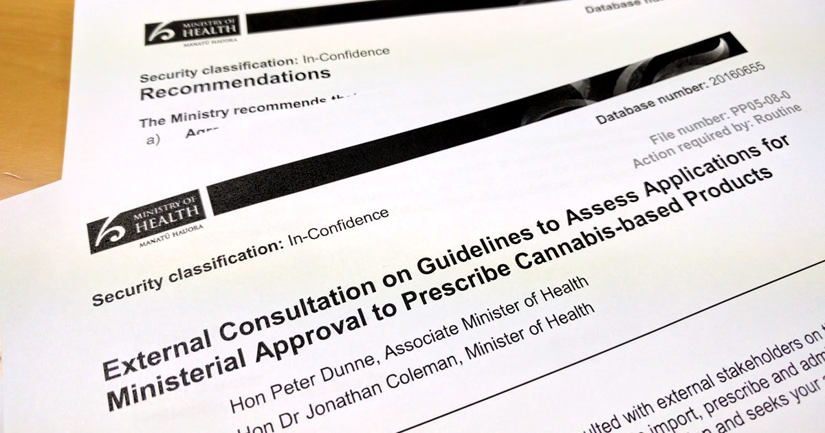 Ministry of health papers on medical cannabis